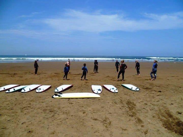Clase de surf en Sopelana