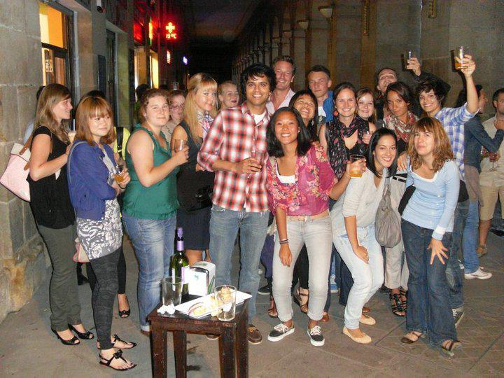 Estudiantes de español en Bilbao, ruta de pintxos