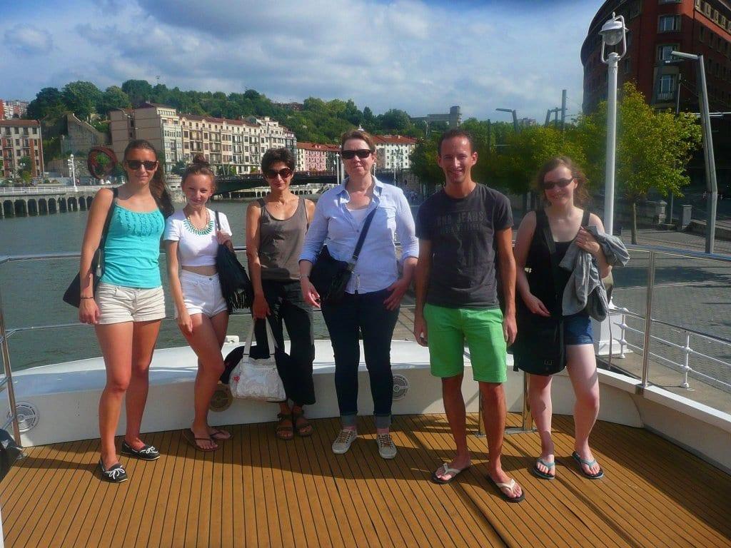 Excursión con estudiantes de español, ría de Bilbao