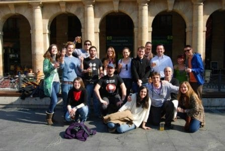 Grupo de estudiantes del Curso de Profesores de Español