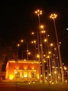 Museo de Bellas Artes de Bilbao por la noche