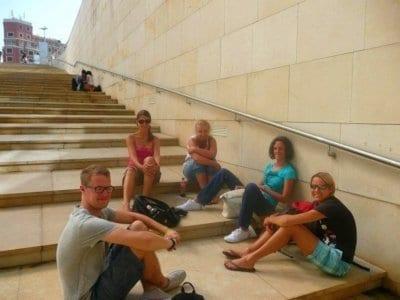 Museo Guggenheim con estudiantes de español