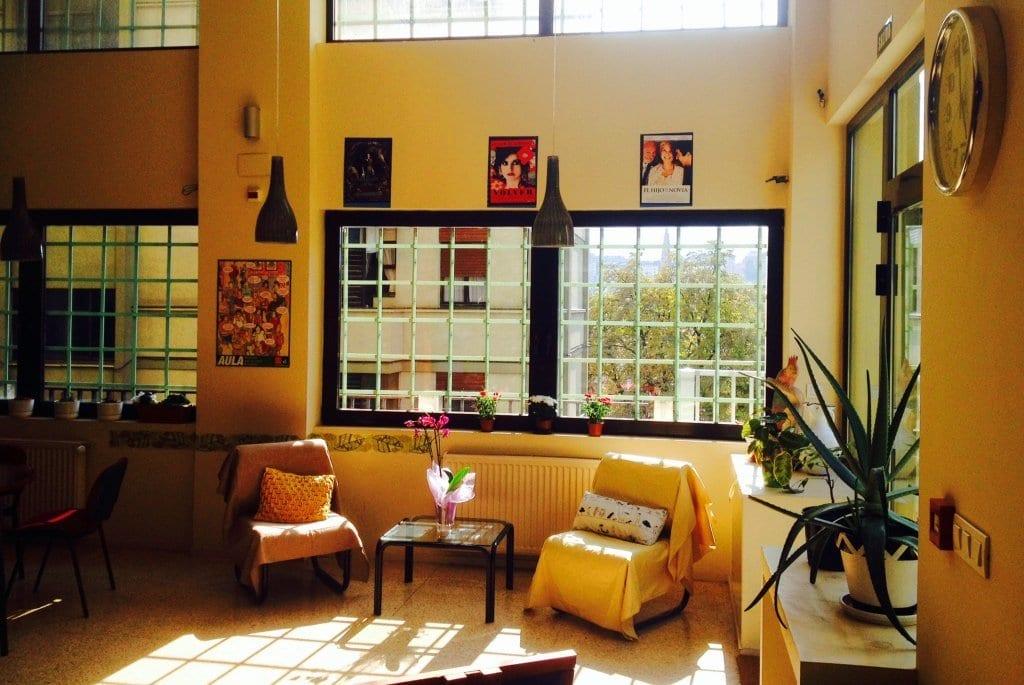 Sala común de estudiantes de español en LINCE