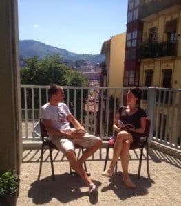 Terraza de la escuela de español LINCE